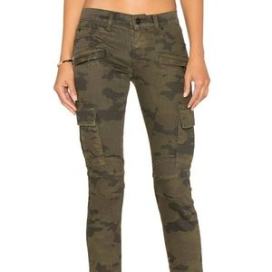 Hudson Colby Ankle Moto Skinny Cargo Camo Jeans